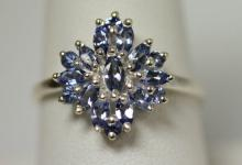 0.85 CTW TANZANITE RING .925 STERLING SILVER
