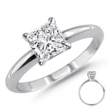 0.85 ct Princess cut Diamond Solitaire Ring, G-H, VVS
