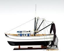 HAND MADE WOODEN Shrimp Boat W/COA