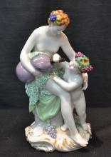 KPM PORCELAIN GROUPING DEPICTING VENUS & CUPID