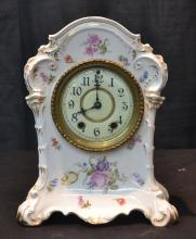 KPM PORCELAIN WATERBURY CLOCK WITH HAND PAINTED