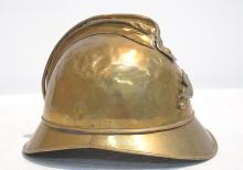 BRASS FRENCH FIRE POLICE HELMET