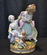 19thC CAPODIMONTE GROUPING OF WOMEN WITH CHILD