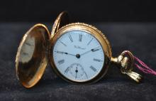 14kt WALTHAM HUNTING CASE POCKETWATCH