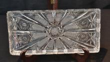 BOHEMIAN CUT GLASS PLATTER - 12 1/2