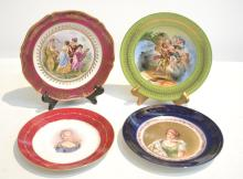 (4) FRENCH & AUSTRIAN PLATES - 9 1/2
