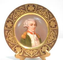 19thC HAND PAINTED ROYAL VIENNA PORTRAIT PLATE OF