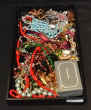 COSTUME BEADS , PINS, RINGS & CUFFLINKS