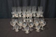 (31)pc's OF ASSORTED STEMWARE
