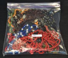ASSORTED COSTUMES JEWELRY BEADS