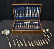 MANCHESTER & Co. STERLING SILVER FLATWARE SERVICE