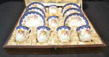ROYAL WORCESTER DEMITASSE SET FOR (6) DATED 1906