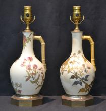 (2) ROYAL WORCESTER LAMPS