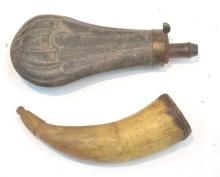 POWDER HORN & POWDER FLASK