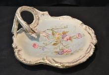 ROYAL BONN FLORAL HANDLED DISH