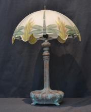 CONTEMPORARY REVERSE PAINTED LAMP - 16