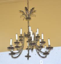 18-LIGHT SPANISH BRONZE CHANDELIER - 30