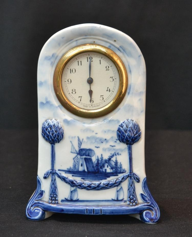 GERMAN DELFT CLOCK - 4 1/2