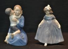 (2) ROYAL COPENHAGEN FIGURES - 4 1/2' x 8