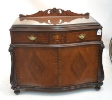 INLAID WALNUT SILVER CHEST WITH FLORAL URN &