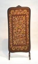 VICTORIAN FLORAL NEEDLEPOINT DRESSING SCREEN