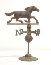 COPPER HORSE FORM TABLE TOP WEATHER VANE