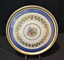 VIENNA STYLE CHARGER WITH FLORAL MEDALLION