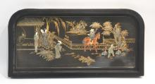 ORIENTAL BLACK LACQUERED WALL HANGING