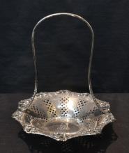 TIFFANY MAKERS PEIRCED STERLING SILVER BASKET