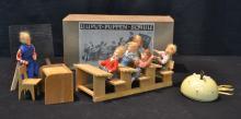 LILIPUT - PUPPEN - SCHULE FELT DOLLS DEPICTING
