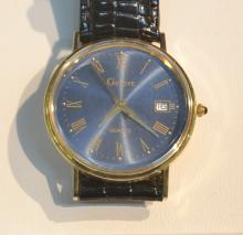 14kt GENEVE WATCH WITH LEATHER BAND - 7