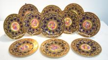(11) HAND PAINTED ROYAL WORCESTER PLATES WITH