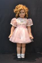 LARGE SHIRLEY TEMPLE DOLL WITH 4-BOXES OF CLOTHES
