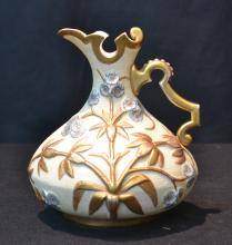 ROYAL RUDOLSTADT EWER WITH RAISED LEAVES