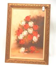 OIL ON CANVAS FLORAL STILL LIFE -32