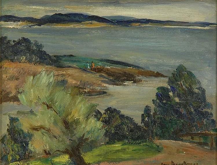 ANN BROCKMAN American 1899-1943 Shore-scape.