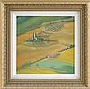 SHARON BOWAR, Pennsylvania, Contemporary, Rolling hills., Oil on masonite, 11