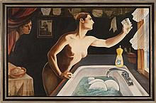 EDITH VONNEGUT, American, 1949-, Joy. From the Domestic Goddess series., Oil on canvas, 31.5