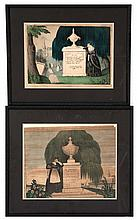 TWO FRAMED MEMORIAL PRINTS