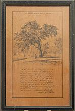 RARE PRINT ON WOOD By Louis Prang. Titled