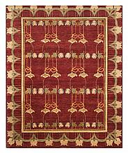 ORIENTAL RUG: ARTS AND CRAFTS DESIGN 7'10