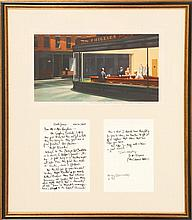 FRAMED PRINT OF EDWARD HOPPER'S