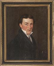 NICHOLAS MARCELLUS HENTZ, American, 1797-1856, Portrait of Russell Sturgis at 19 years old., Oil on board, 26