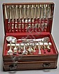 CASED TOWLE MFG. CO. STERLING SILVER FLATWARE SET In the