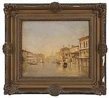 ITALIAN SCHOOL, Early 20th Century, Venetian scene., Oil on board, 9.5