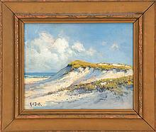 ARTHUR VIDAL DIEHL, American, 1870-1929, Dunes of Provincetown, Massachusetts., Oil on board, 8