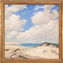 ALBERT LOREY GROLL, American, 1866-1952, Dunes of Cape Cod, Massachusetts., Oil on canvas, 25