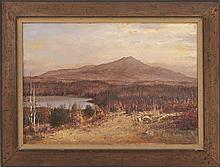 WILLIAM PRESTON PHELPS, American, 1848-1923, View of Mount Monadnock, New Hampshire., Oil on canvas, 14