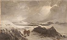 AMERICAN SCHOOL, Late 19th Century, A bear in an Arctic landscape., Oil on canvas, 12