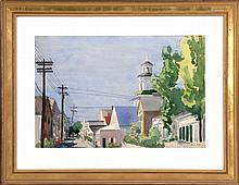 LLOYD B. EMBRY, American, 1913-1979, Provincetown, Massachusetts., Watercolor on paper, 14.5